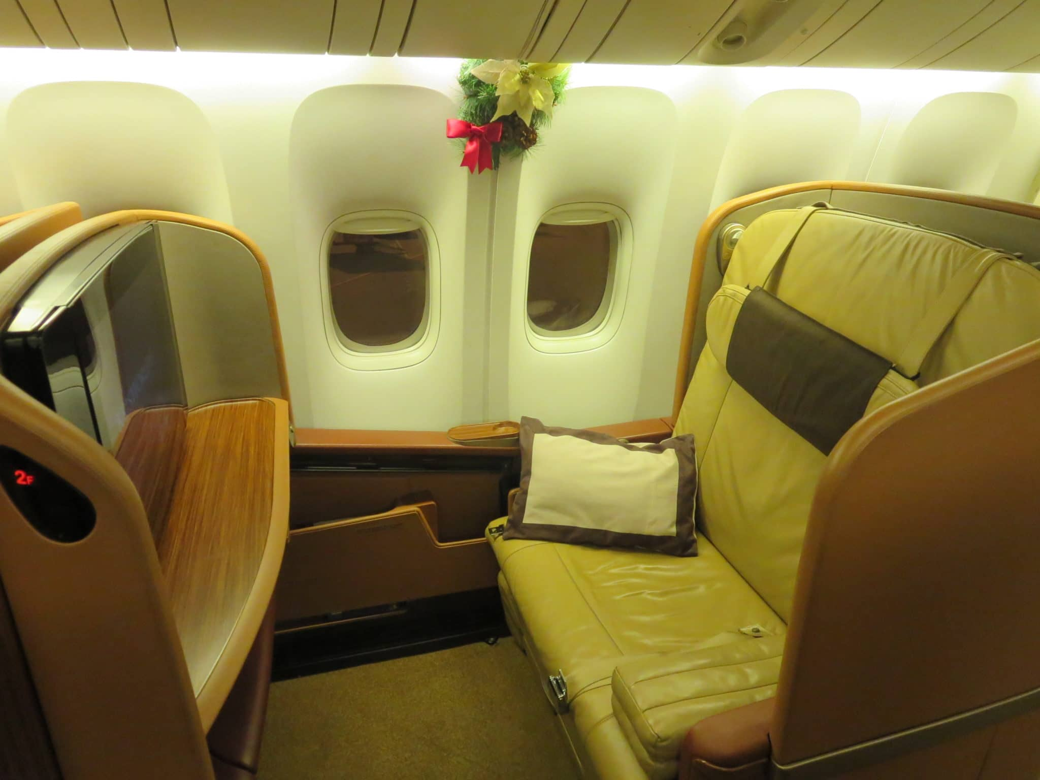 Singapore Airlines First Class Sitz