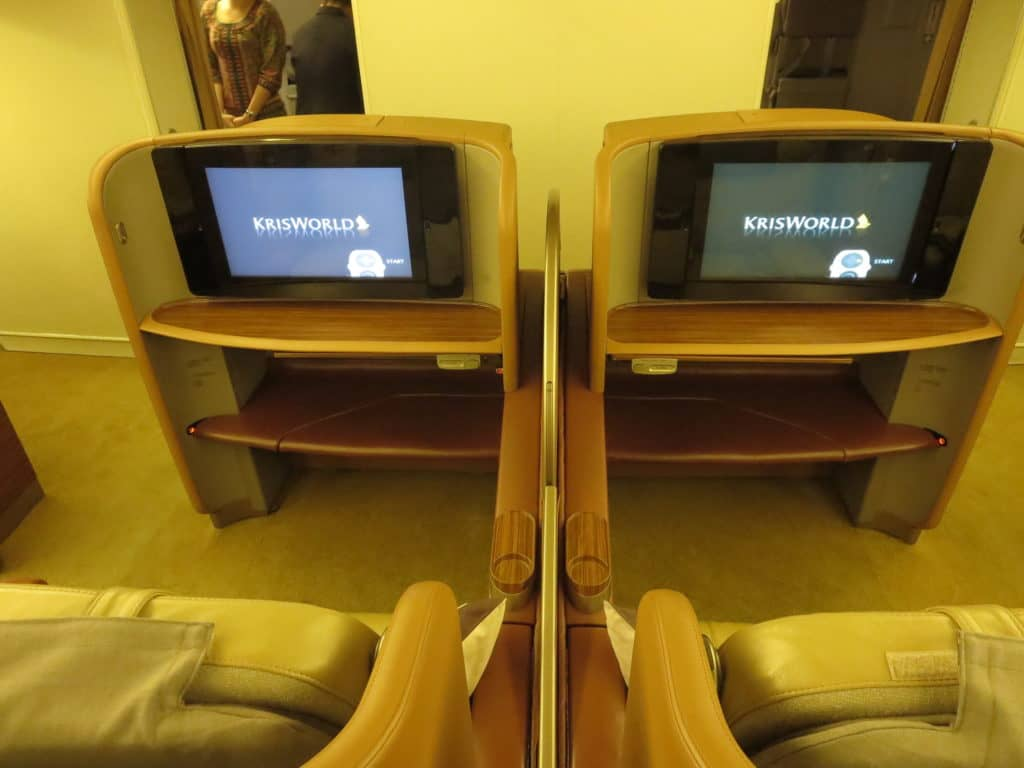 Singapore Airlines First Class an Bord der Boeing 777