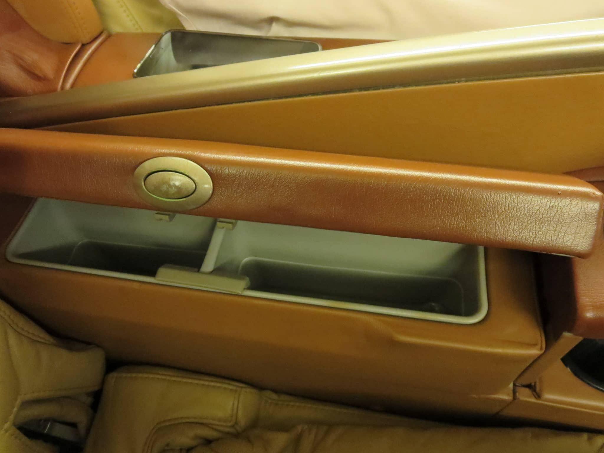Singapore Airlines First Class Stauraum