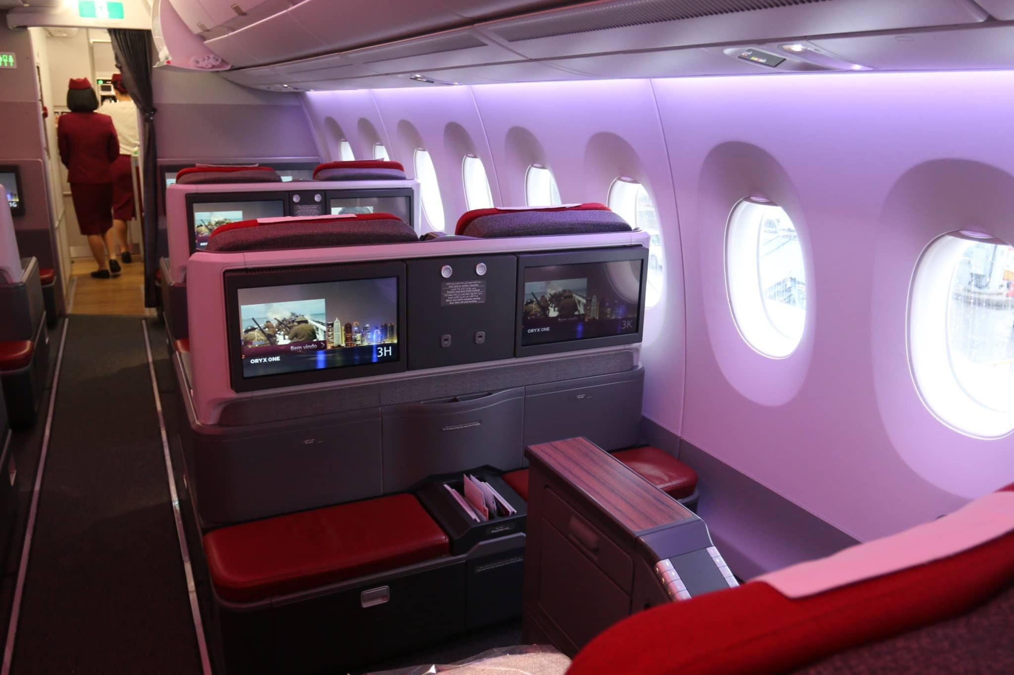 Business Class Sitz an Bord des LATAM A350-900 XWB