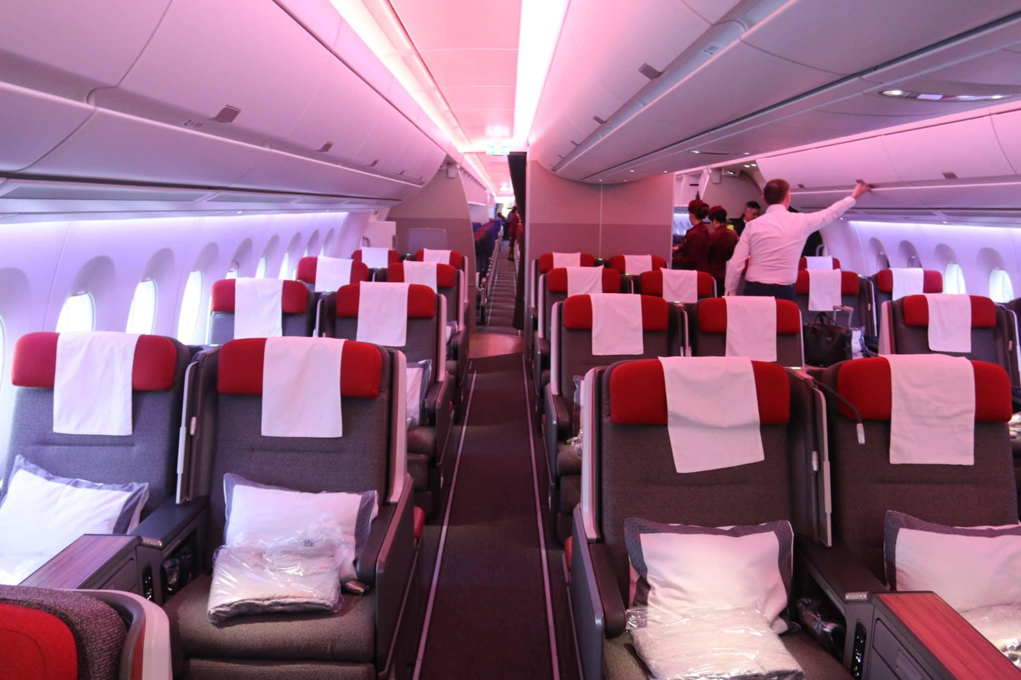 Business Class Kabine an Bord des LATAM A350-900 XWB