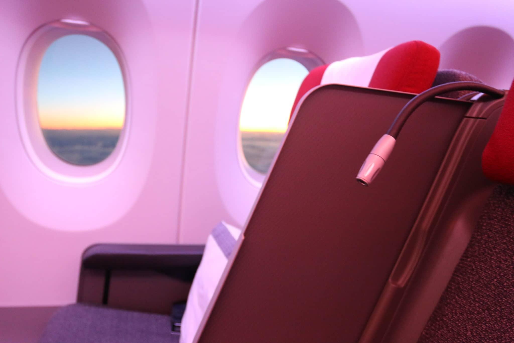 Trennwand an Bord der LATAM Business Class A350-900 XWB