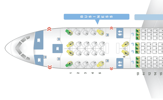 Sitzplan Business Class Boeing 787-8 Dreamliner © seatguru.com