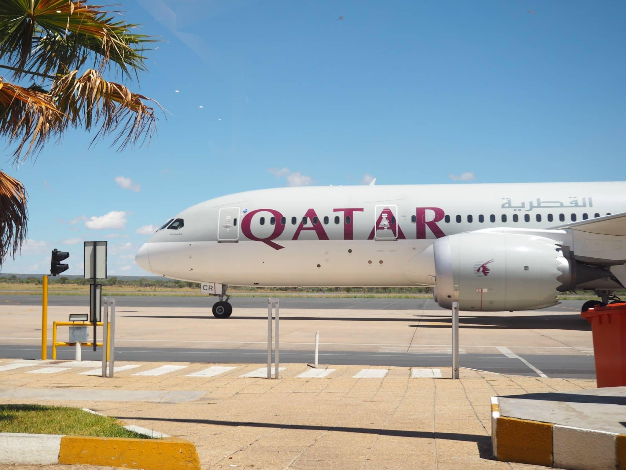 Qatar Airways Boeing 787-8 Dreamliner am Flughafen Windhoek