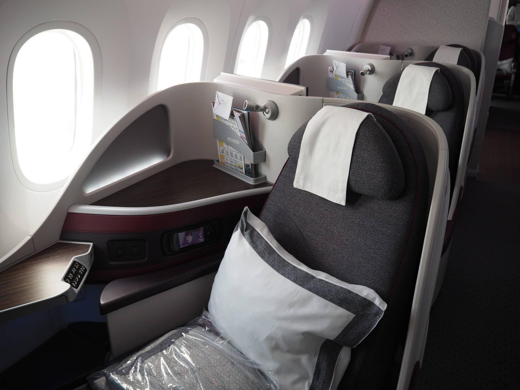 Qatar Airways Business Class Boeing 787-8 Sitz
