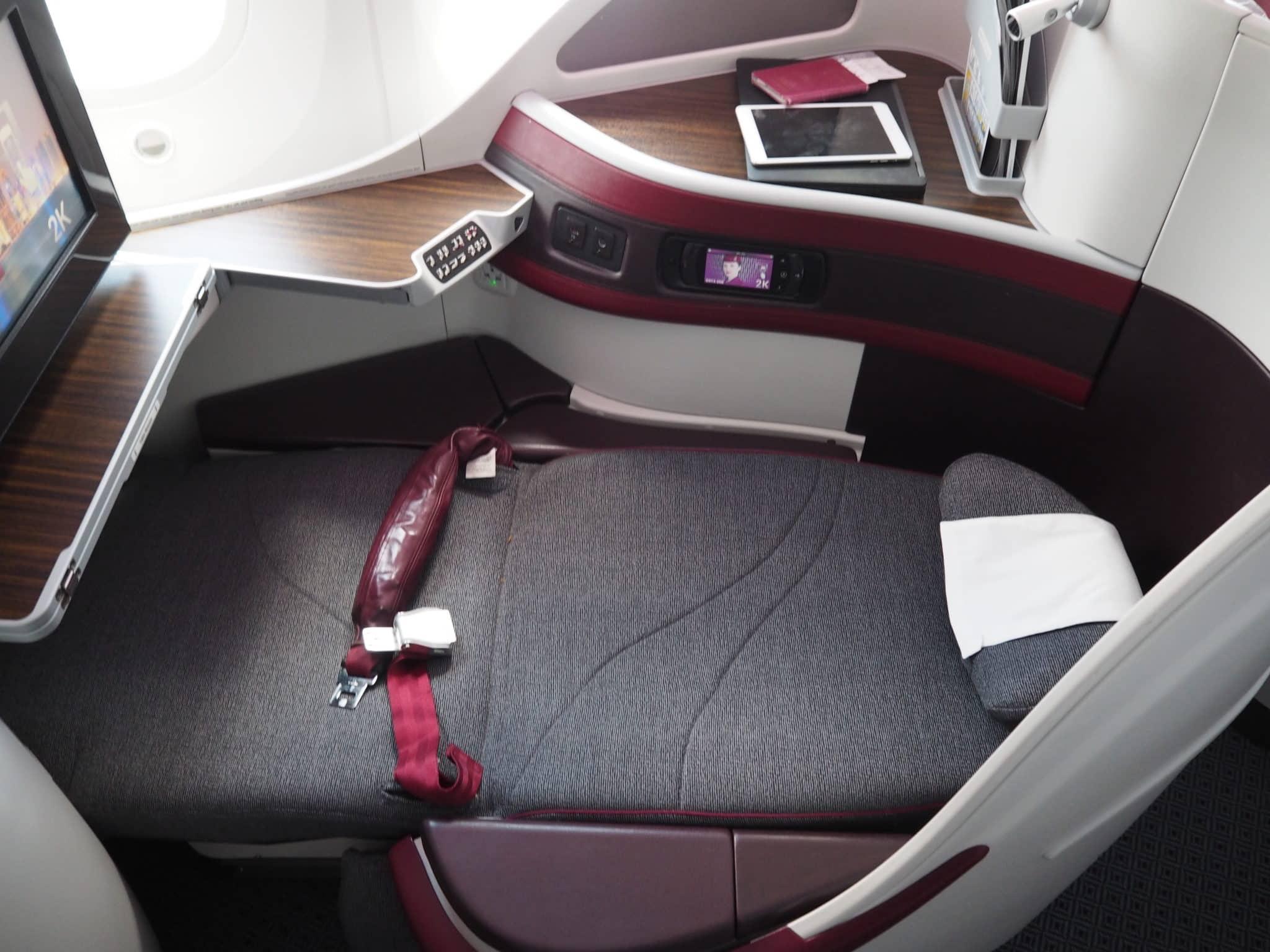 Qatar Airways Business Class Boeing 787-8 Bett