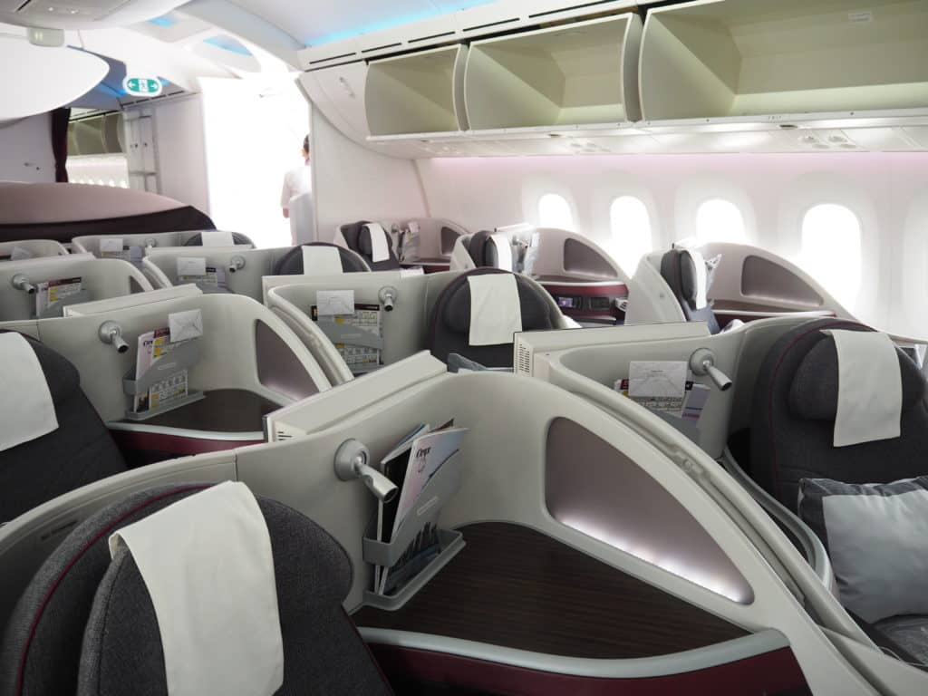 Qatar Airways Business Class Boeing 787