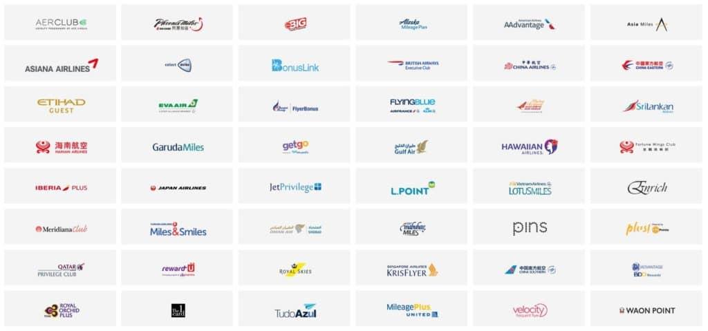 Agoda PointsMAX Partner-Vielfliegerprogramme