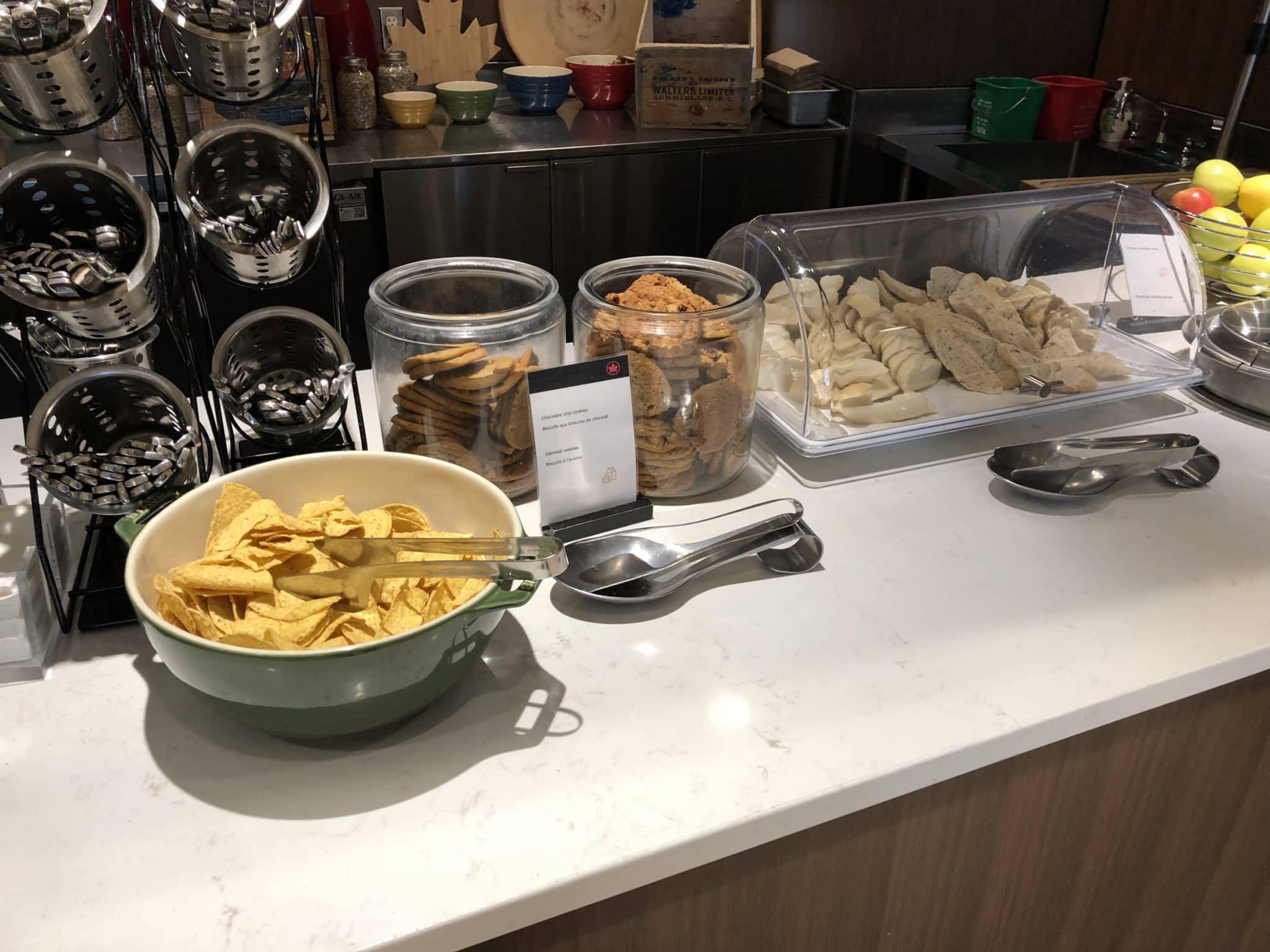 Air Canada Maple Leaf Lounge Calgary Cookies, Tortillas