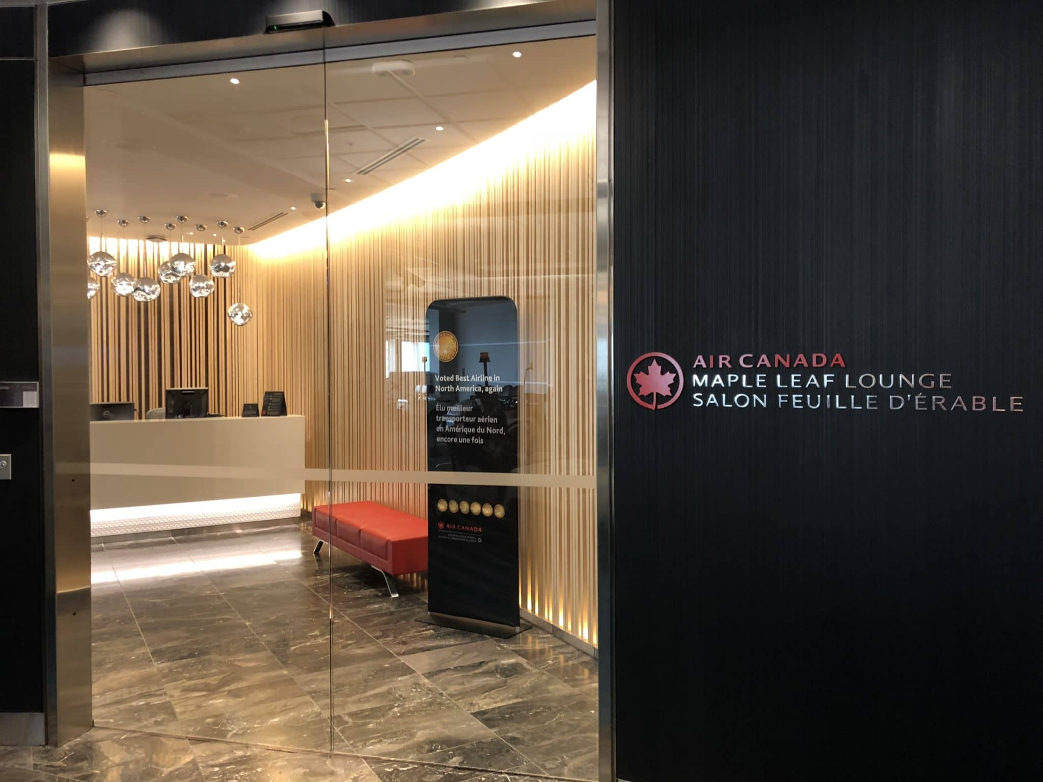 Air Canada Maple Leaf Lounge Vancouver Eingangsbereich