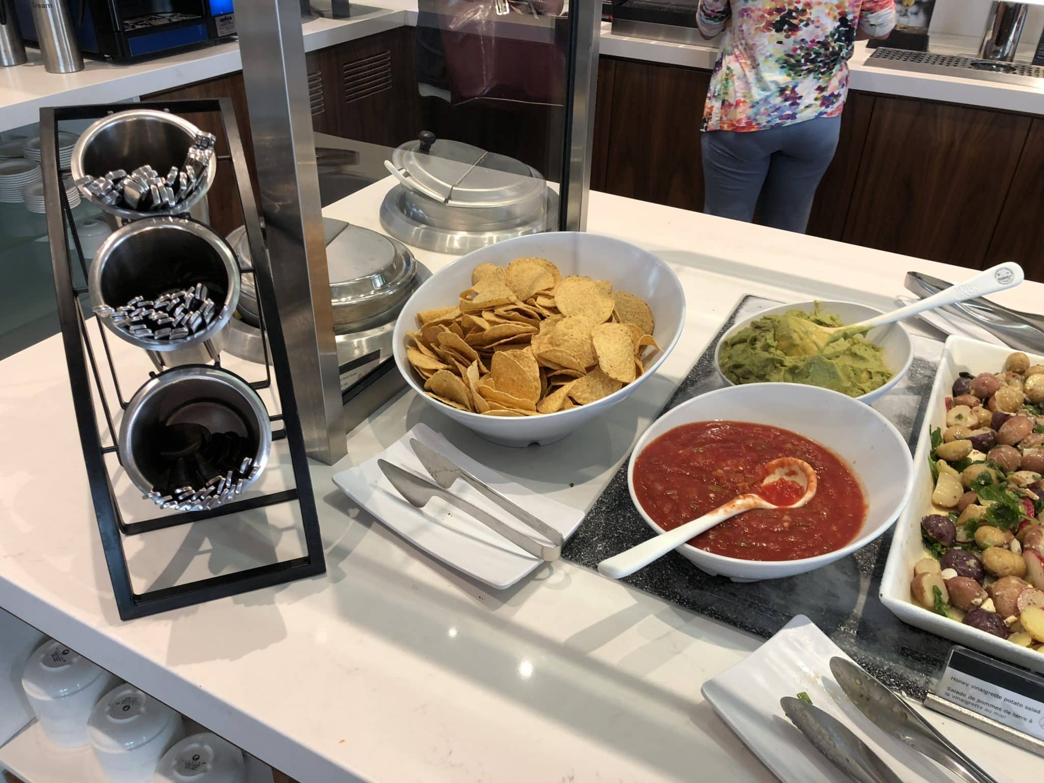 Air Canada Maple Leaf Lounge Vancouver Tortillas