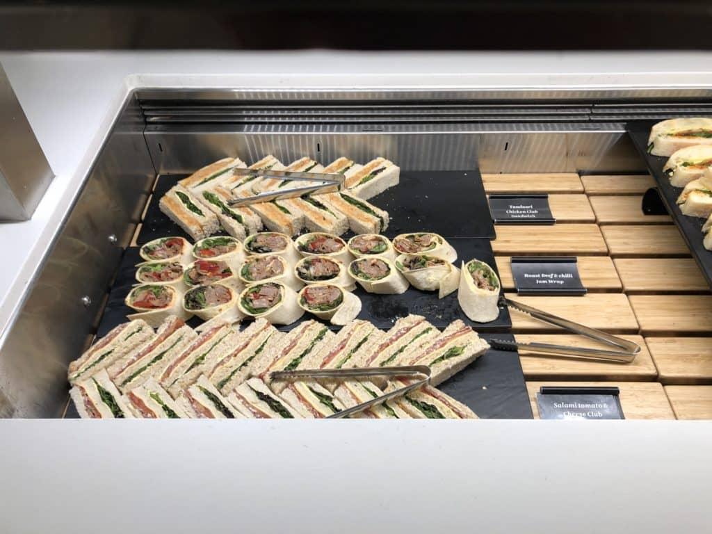 Air New Zealand Brisbane International Lounge Wraps Sandwiches
