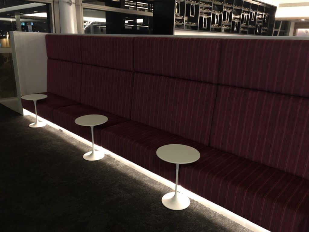 Air New Zealand Brisbane International Lounge Sitzoptionen