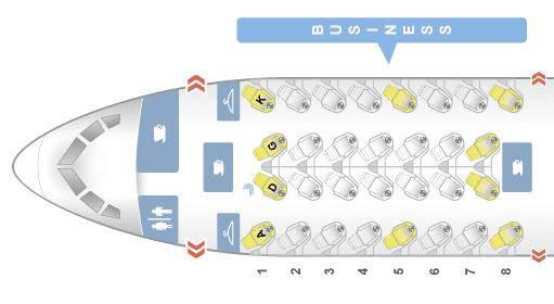 Air Canada Business Class B787-9 Sitzplan