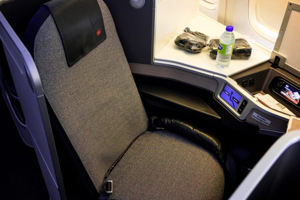 AirCanada Business Class Boeing 777 Sitz von oben