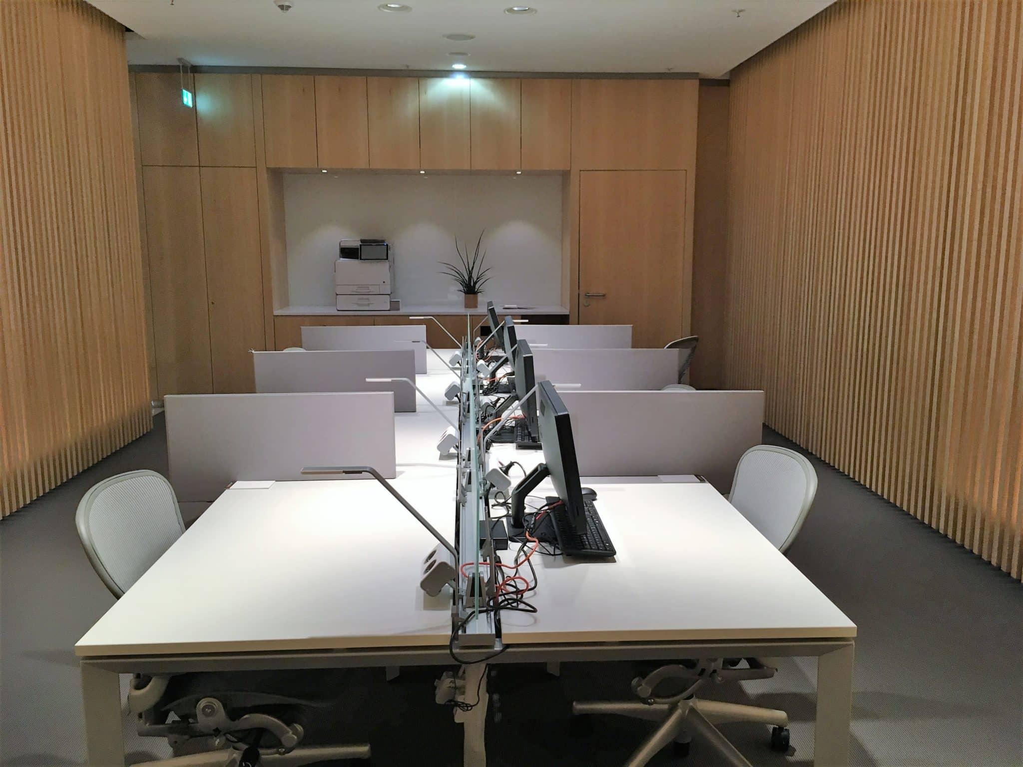 Air Canada Maple Leaf Lounge Frankfurt Arbeitsbereich