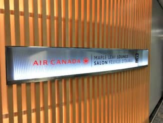 Air Canada Maple Leaf Lounge Frankfurt Entrance Schild