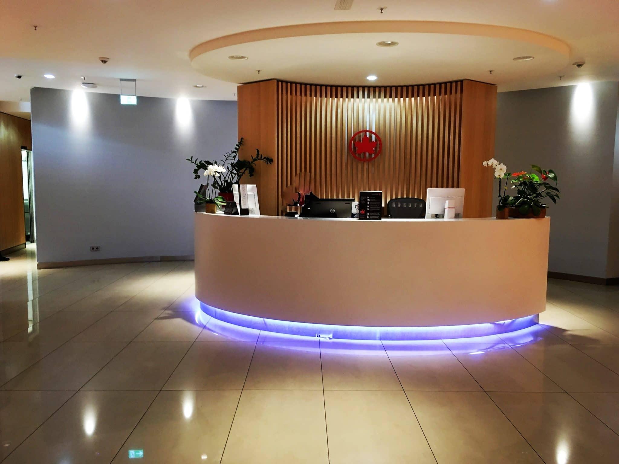 Air Canada Maple Leaf Lounge Frankfurt Empfangsbereich