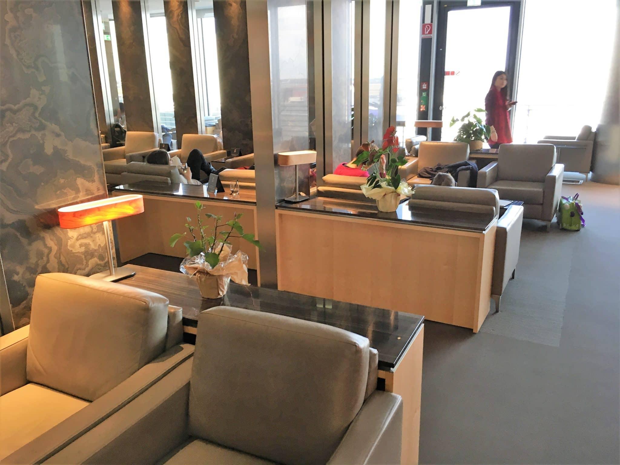 Air Canada Maple Leaf Lounge Frankfurt Sessel