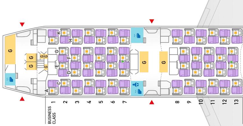 ANA Business Class Boeing 787-9 Sitzplan &copy ANA