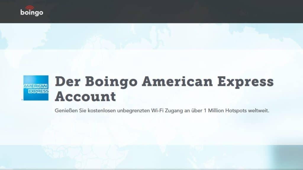American Express Boingo Account - Für Inhaber der American Express Gold und Platinum kostenlos