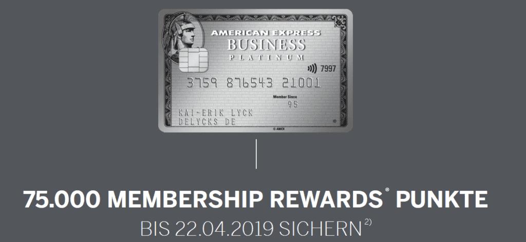 Jede Menge Meilen sammeln mit der American Express Business Platinum Card © amex-business.de