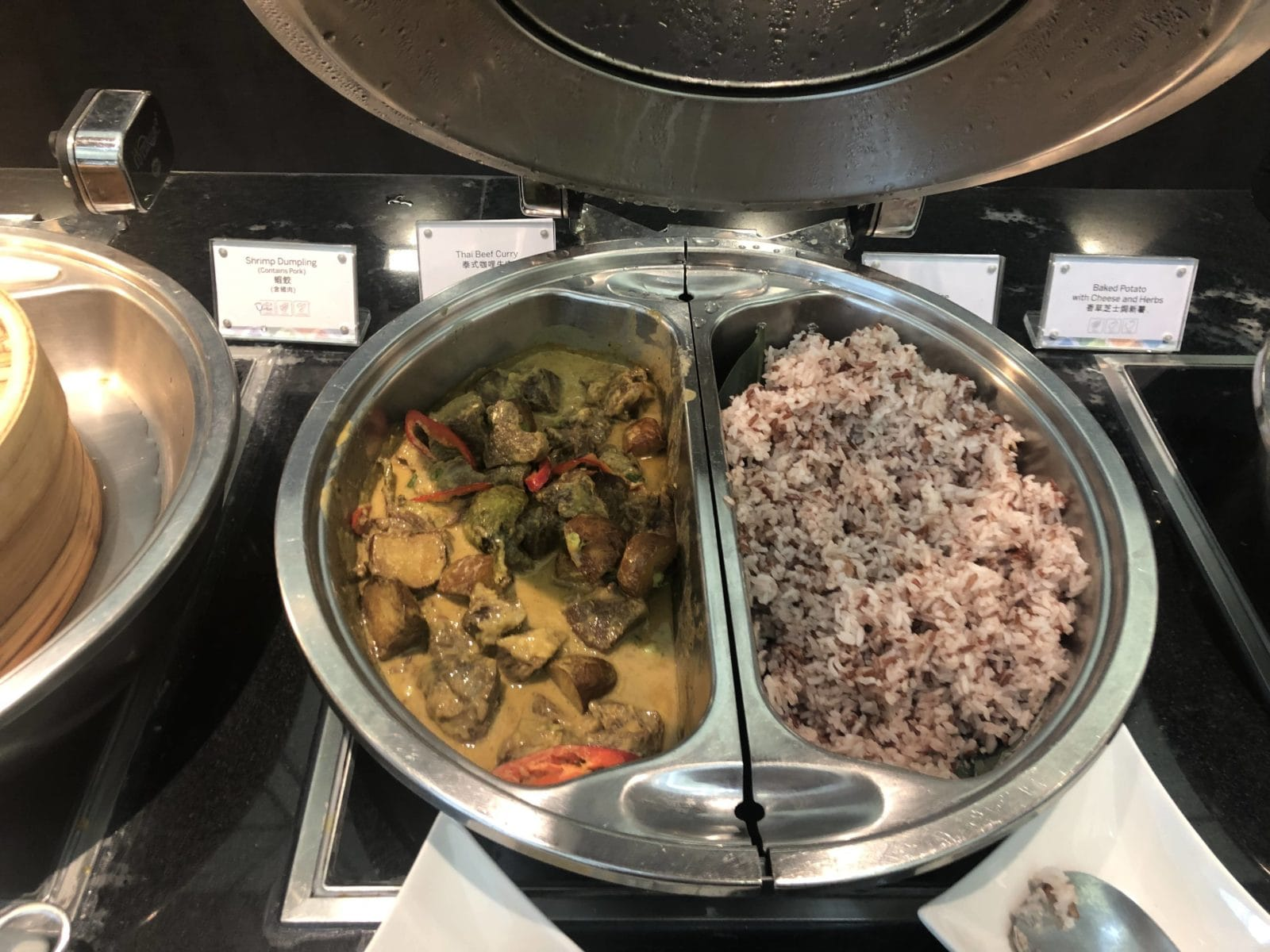 American Express Centurion Lounge Hong Kong Beef Curry