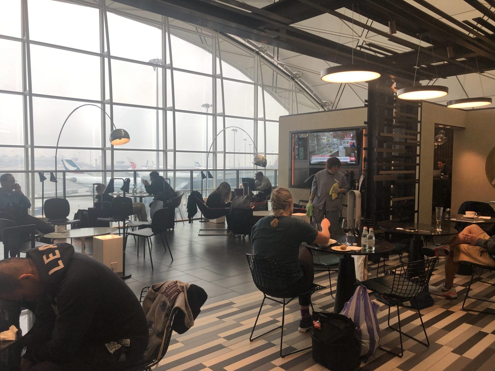 American Express Centurion Lounge Hong Kong Blick in die Lounge