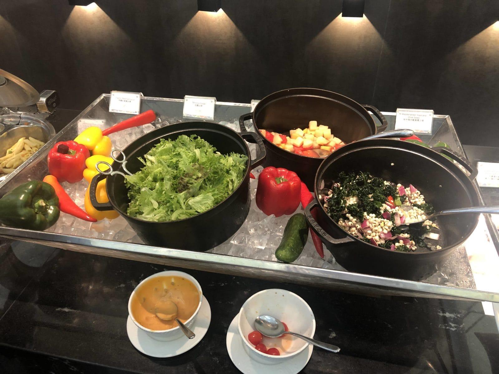 American Express Centurion Lounge Hong Kong Salat Bar