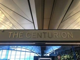 American Express Centurion Lounge Hong Kong Eingangsschild