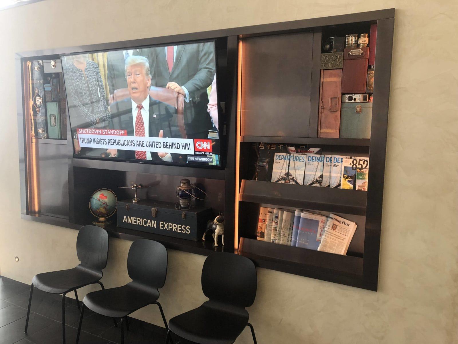 American Express Centurion Lounge Hong Kong Zeitungen und Zeitschriften