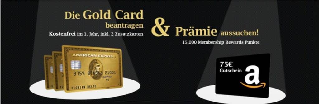 American Express Gold Kreditkarte (Österreich) mit 15.000 Membership Rewards Punkten als Willkommensbonus