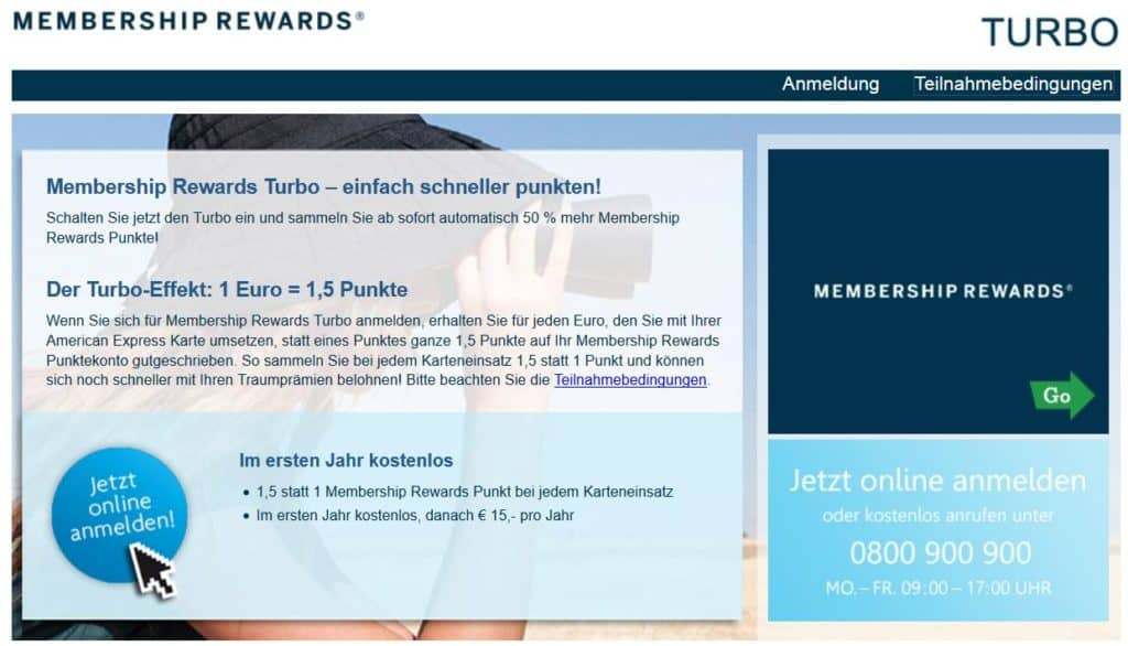 American Express Membership Rewards Turbo Österreich