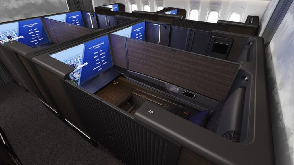 "Die neue ANA First Class ""THE Suite"" an Bord der 777-300ER © ANA"