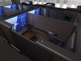 "Die neue ANA First Class ""THE Suite"" an Bord der 777-300ER &copy ANA"