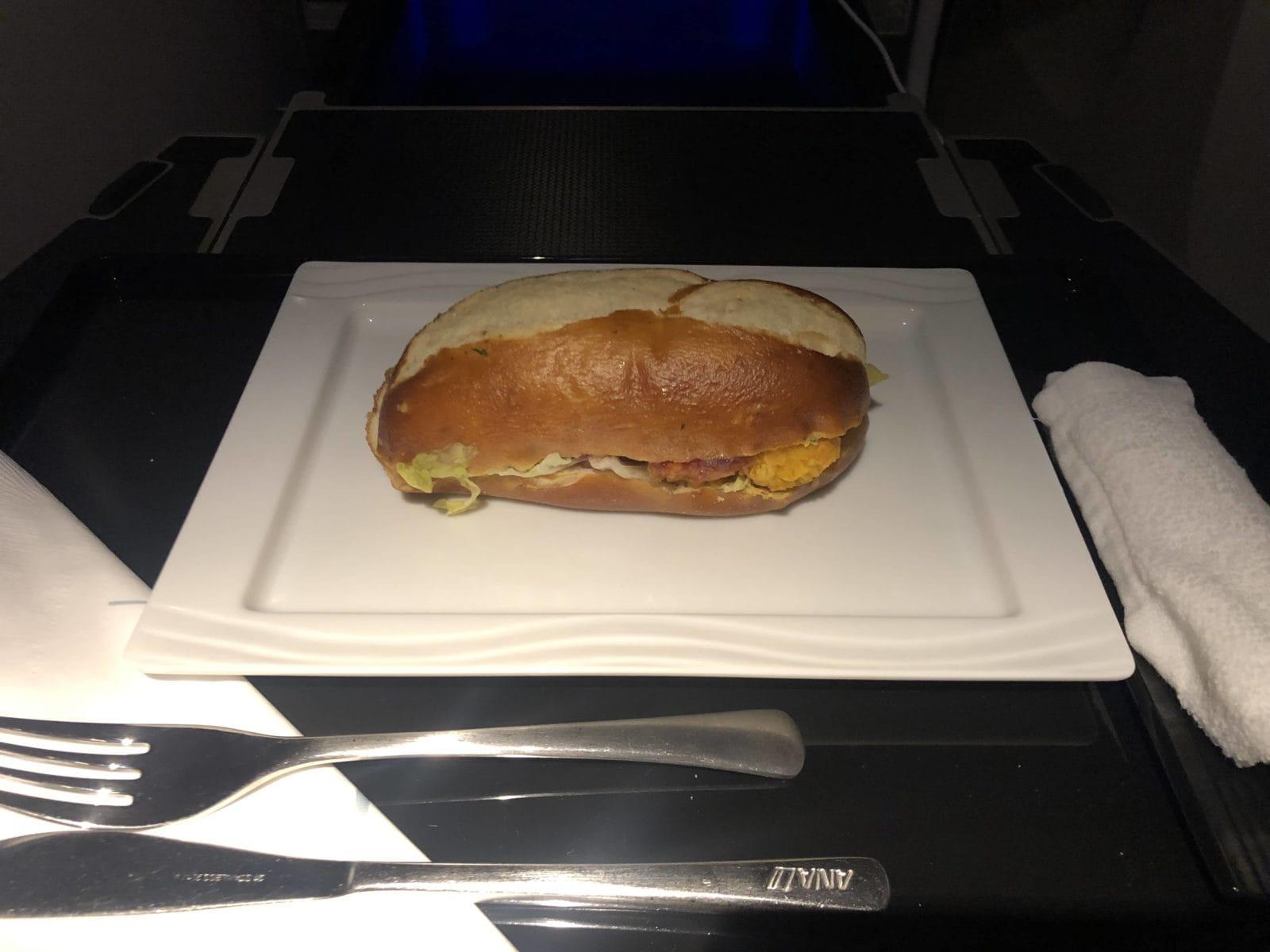 ana business class boeing 777 300 Sandwich