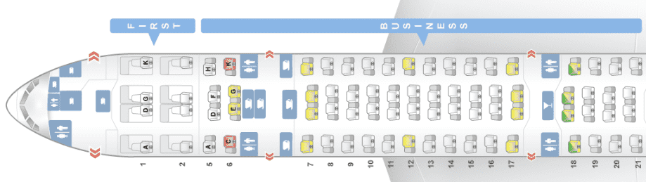 ana business class boeing 777-300 seatmap seatguru