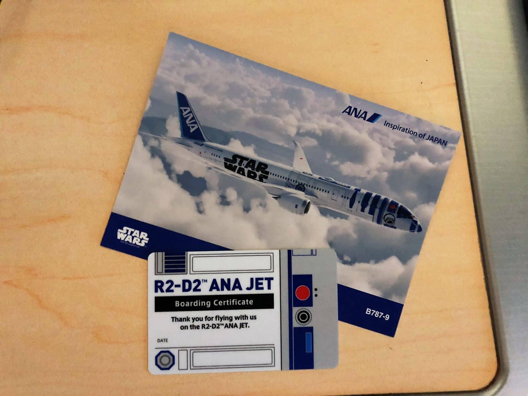 ANA Business Class B787-9 Boarding Zertifikat