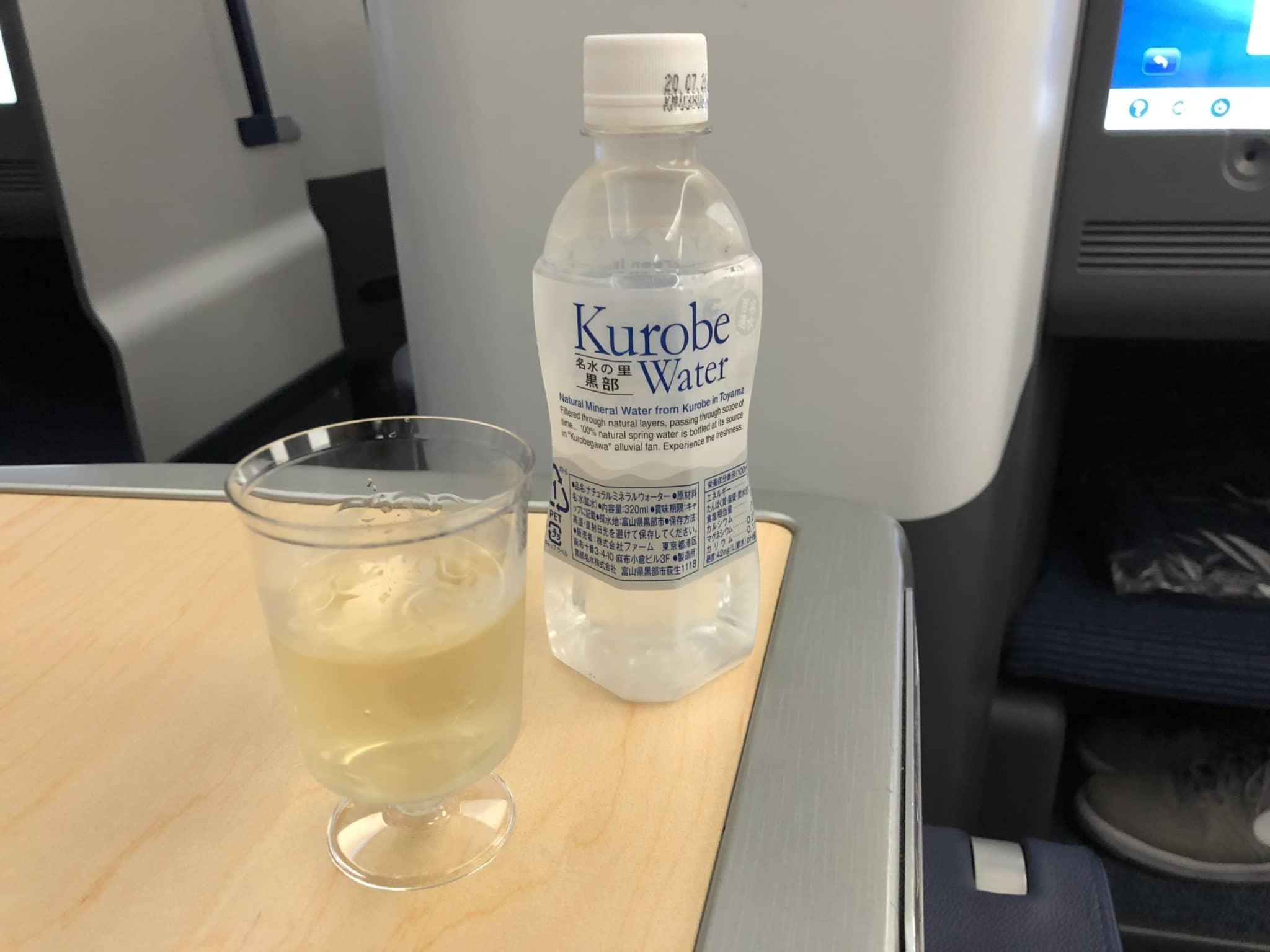 ANA Business Class B787-9 Welcome drink