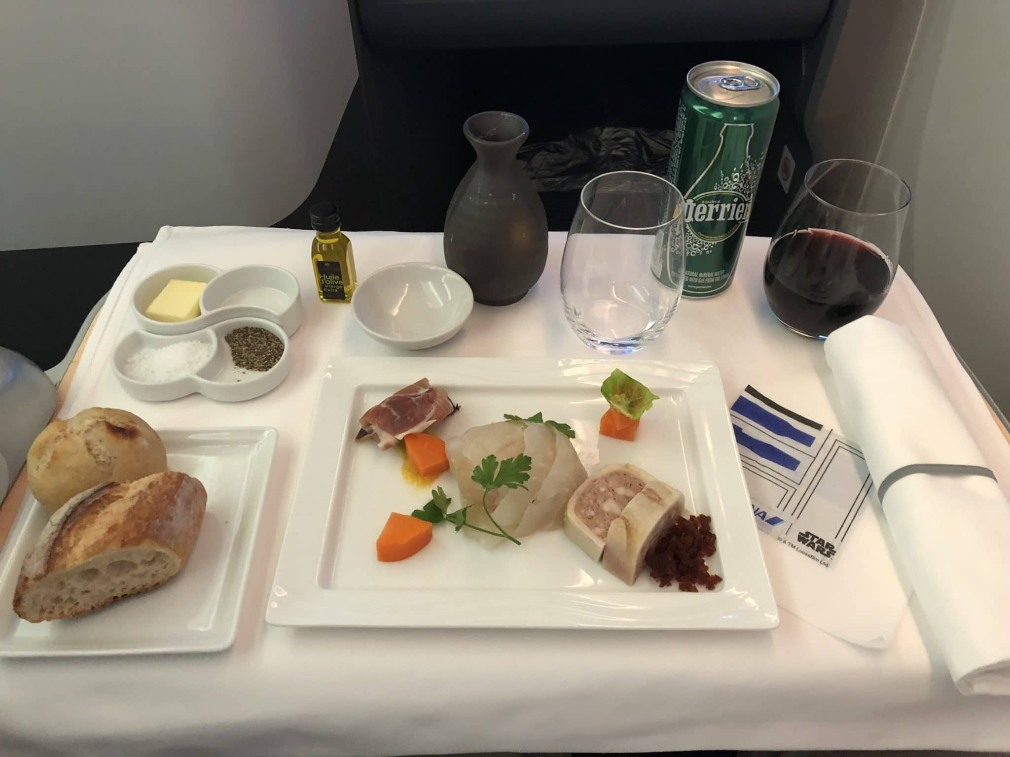 ANA Business Class B787-9 Vorspeise