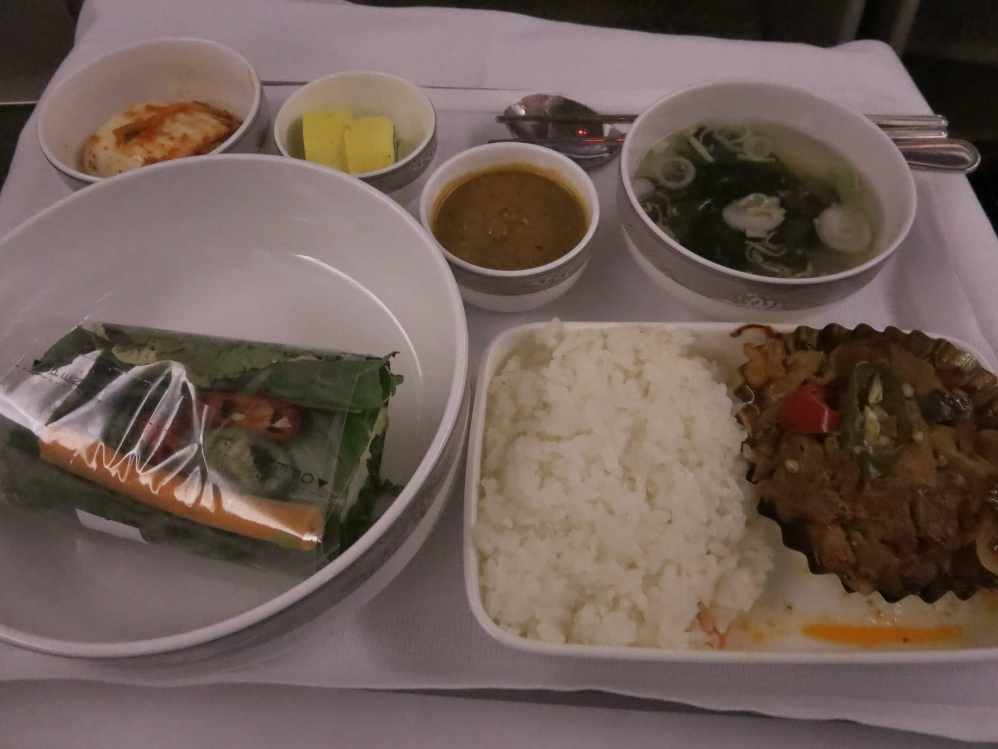 Asiana Business Class Essen