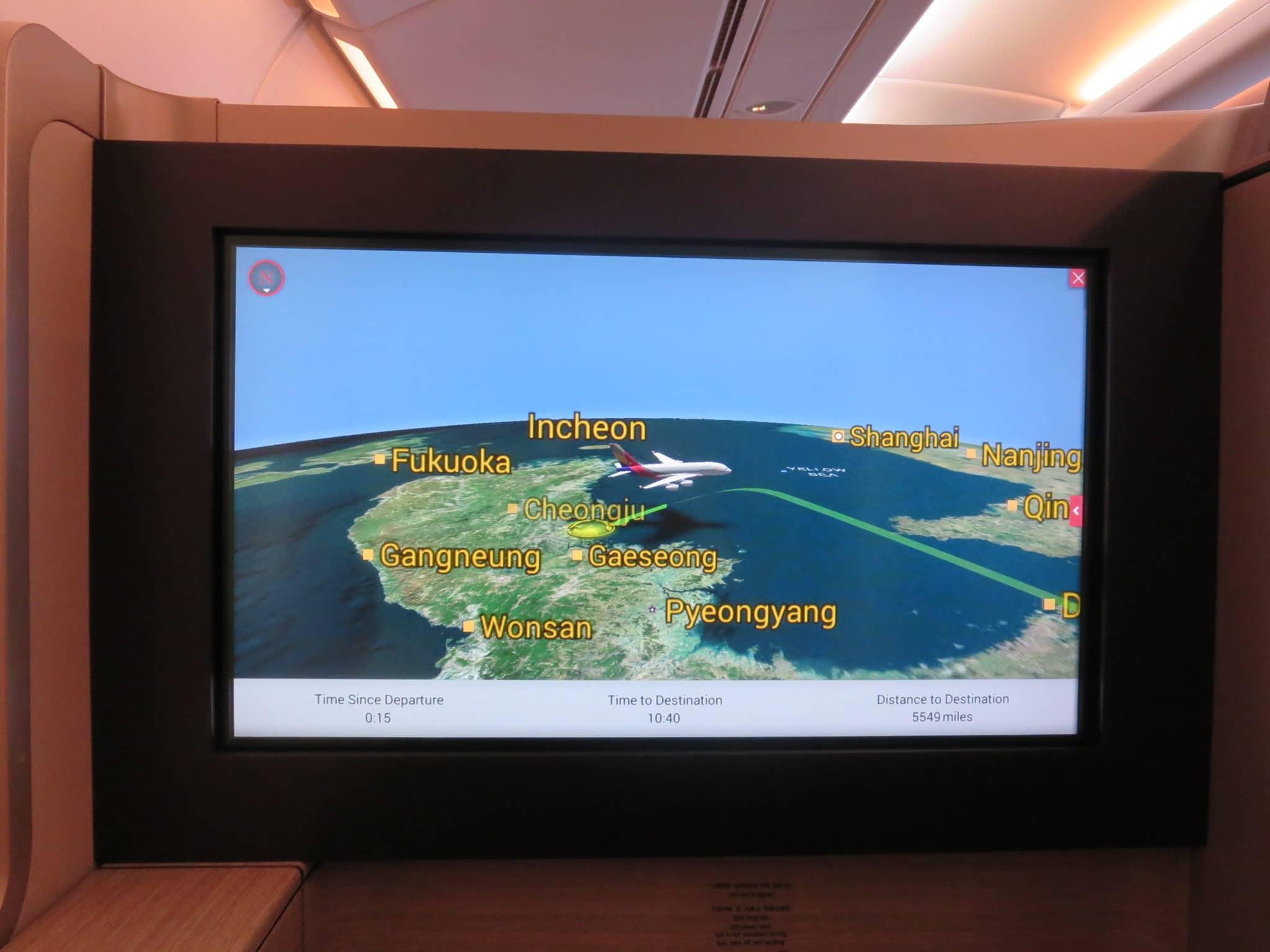 Asiana First Class A380 Flightshow
