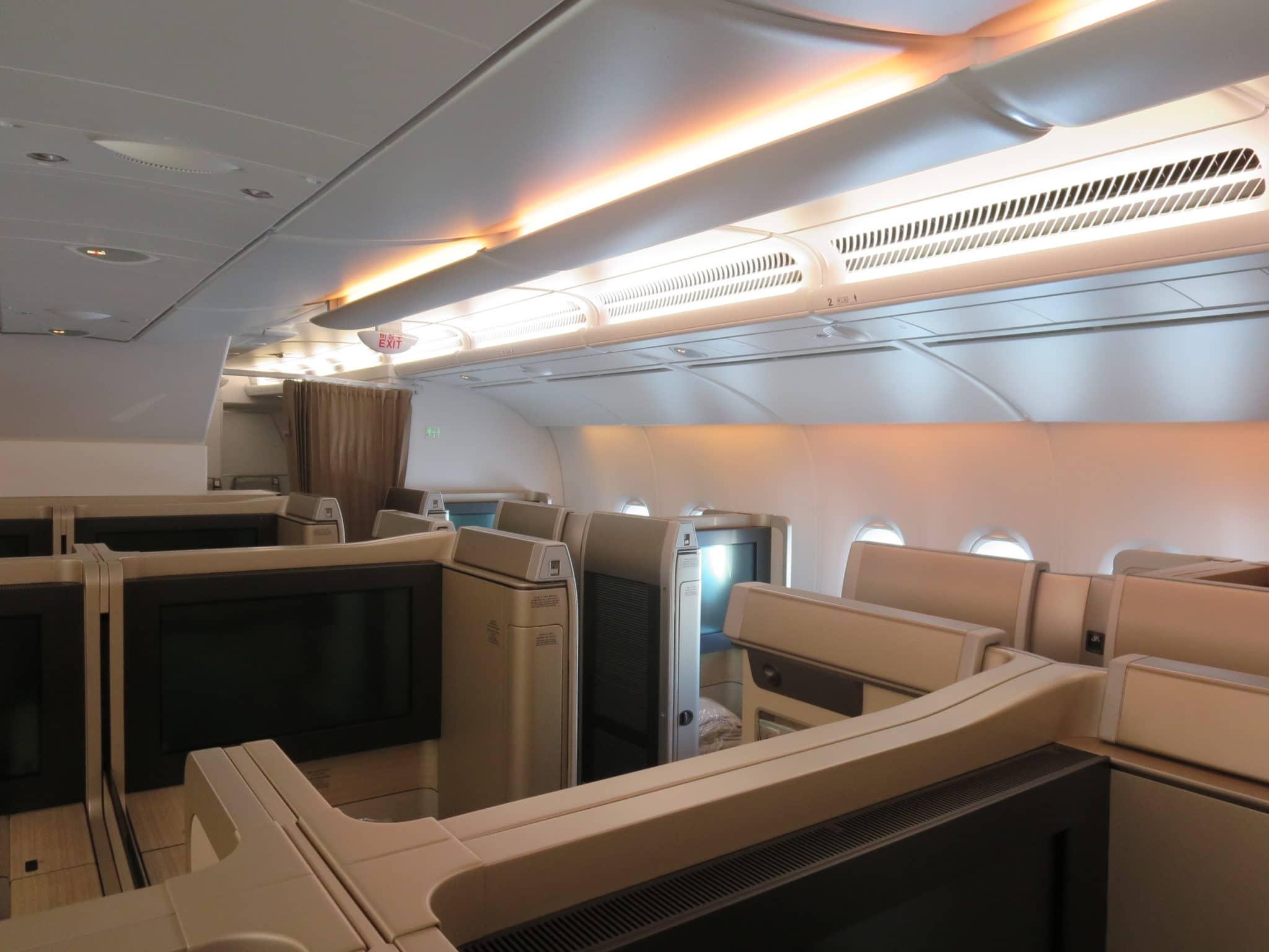 Asiana First Class A380 Kabine