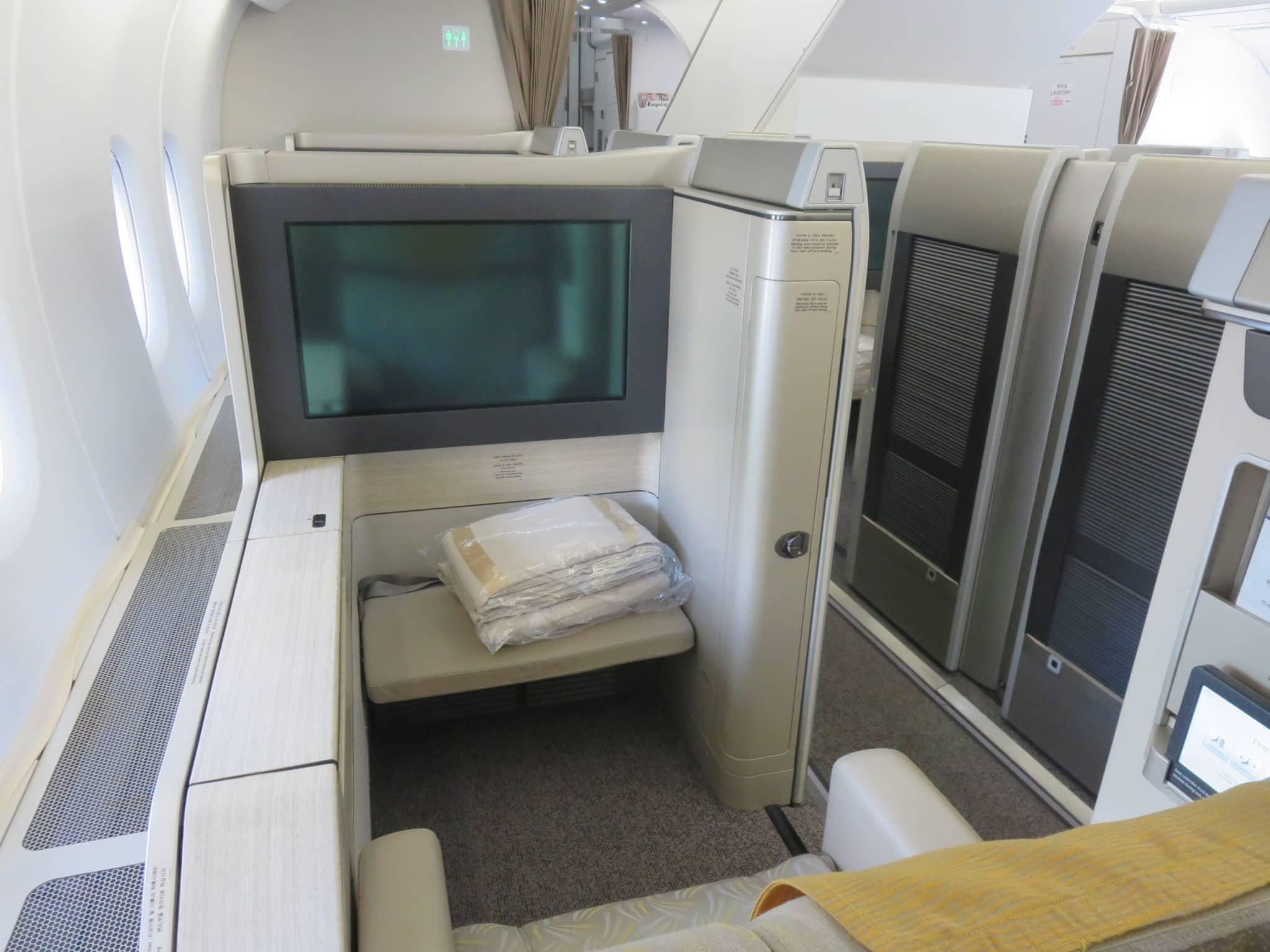 Asiana First Class A380 Sitz