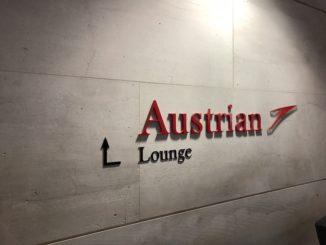 Austrian Airlines Business Class Lounge Wien Terminal D Logo Eingang
