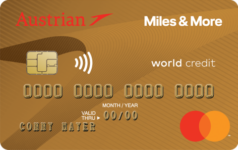 Austrian Miles & More World MasterCard Gold Oesterreich