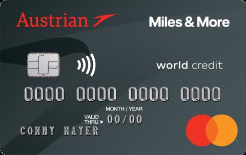 Austrian Miles & More World MasterCard Platinum Oesterreich