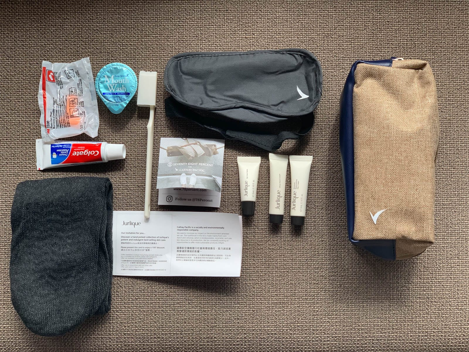 Cathay Pacific Amenity Kit