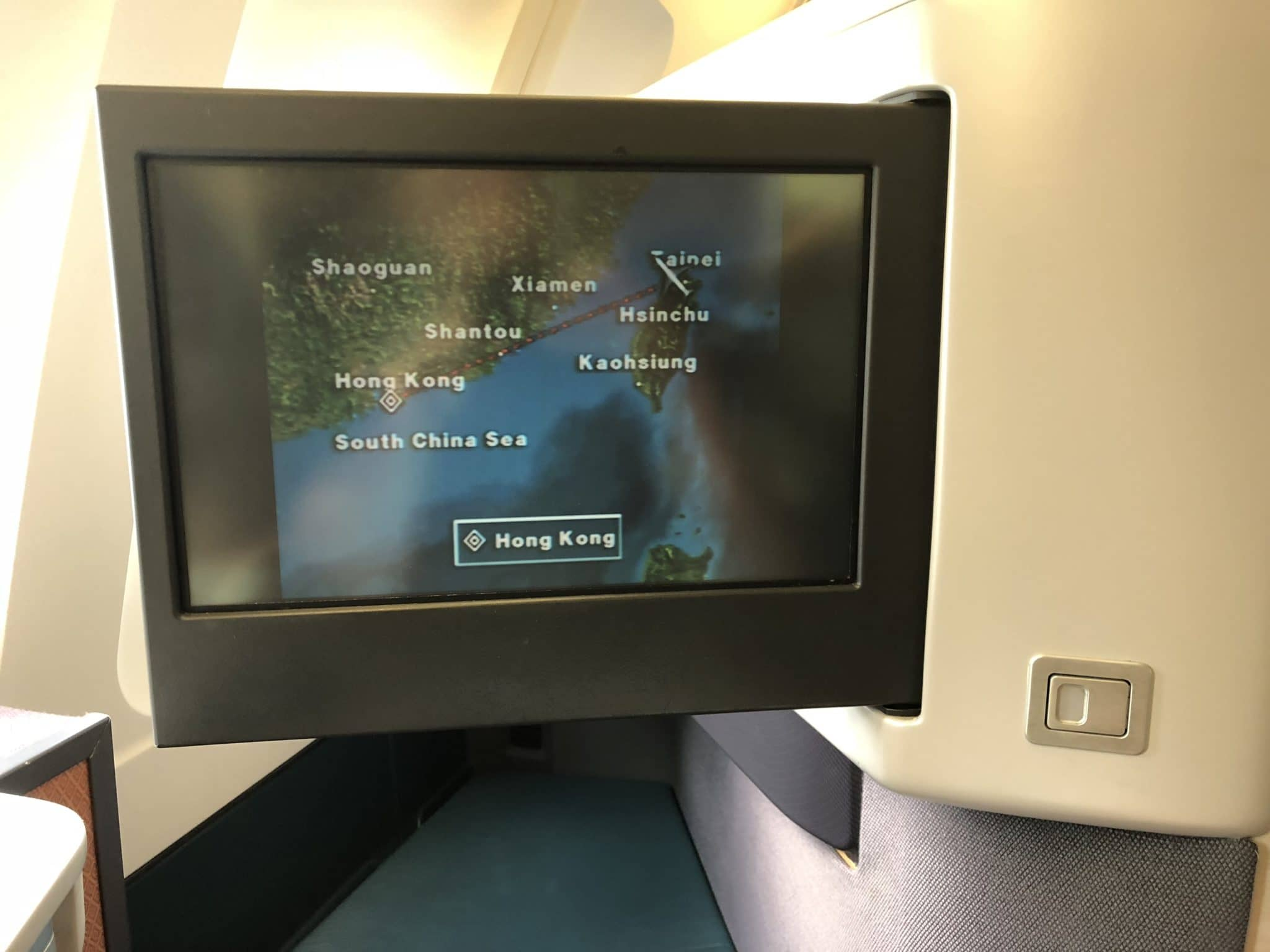 Cathay Pacific Business Class A330 Routeninformation