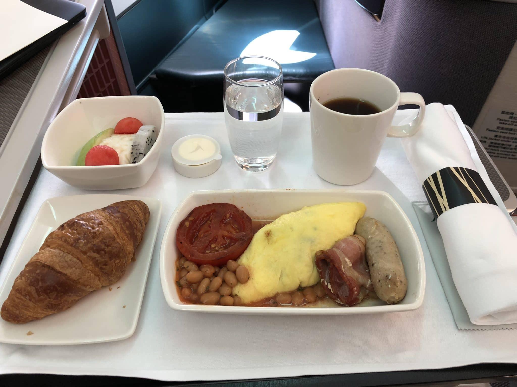 Cathay Pacific Business Class A330 Frühstück